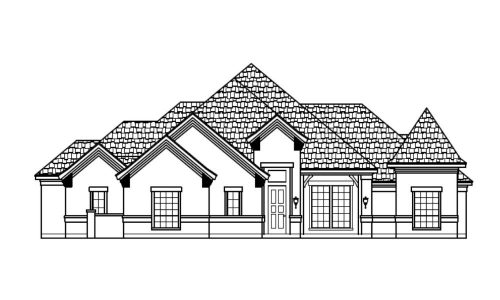 6917 Veal Station Road Front Elevation