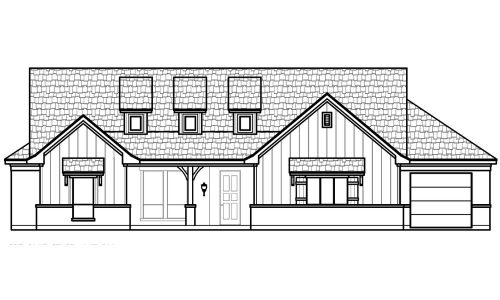 Updated 1041 Paradise Parkway Front Elevation